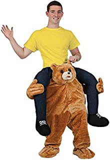 泰迪熊骑在万圣节服装肩带圣诞节狂欢节成人服装