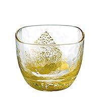 东洋佐佐木玻璃 日本酒&烧酒玻璃杯 江户玻璃 八千代窑 金色 65mL 10797