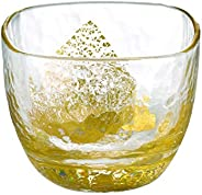 东洋佐佐木玻璃 日本酒&烧酒玻璃杯 江户玻璃 八千代窑 金色 65mL 1