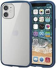 Elecom 宜丽客 iPhone 12 mini 保护壳 混合 耐冲击 TOUGHSLIM LITE 镜框颜色 藏青色 PM-A20ATSLFCNV