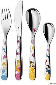WMF 福騰寶 迪士尼公主系列 兒童餐具4件套,Cromargan拋光不銹鋼,適用于3歲以上兒童,可使用洗碗機清潔,顏色穩固/不與食品產生物質交換