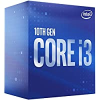 Intel 英特爾 Core i3-10100 臺式機處理器 4 核高達 4.3 GHz LGA1200(Intel 400 系列芯片組)65W,型號:BX8070110100