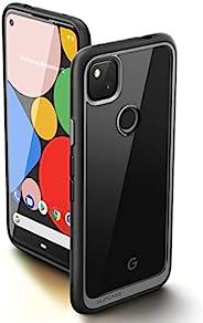 SUPCASE 独角兽甲壳虫风格系列保护套专为谷歌 Pixel 4A 设计(2020 版),高级混合保护套(黑色)