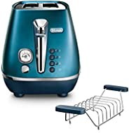 De'Longhi 德龙 Distinta Flair 电热水壶 KBI2001 拉 1.7 升 可拆卸钙质过滤器 Toaster Prestige