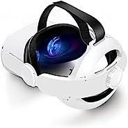 Kuject 可拆卸,可调节头带,替换 Oculus Quest 2 Elite 头带,3 合 1 版本,轻巧便携的 Oculus Quest 2 配件,适合官方 Quest 2 便携包