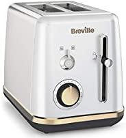 Breville 铂富 Mostra 双片式烤面包机 VTT935X-01 VTT935X,塑料材质/月光银