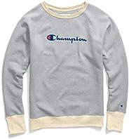 Champion 女士強力混合男友風圓領運動衫