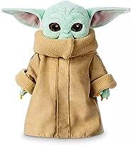 Grogu Baby 尤达毛绒玩具,12 英寸(约 30.5 厘米),星球大战儿童毛绒玩具,曼达洛里宝贝尤达枕头毛绒填充娃娃,宝宝尤达礼物,宝宝尤达,生日派对礼品用品