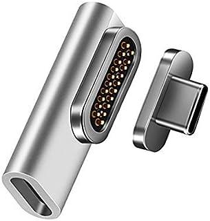 REDBEAN 磁性 USB C 适配器 20 针 C 型连接器支持 PD 100W 快速充电 10 Gbps 数据传输 4K 60Hz 视频输出 兼容 MacBook Pro 2019 /Air, HPB4GF-SV