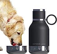 Asobu 宠物狗碗 带绝缘不锈钢旅行瓶 945 毫升 黑色