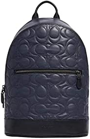 Coach 蔻驰 West Slim Backpack with Signature Quilting F79962,Midnight