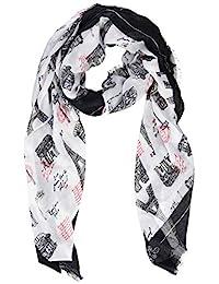 Karl Lagerfeld Paris 女式印花方形圍巾