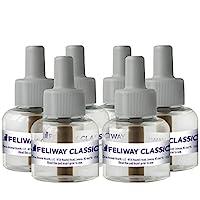 FELIWAY 经典舒缓扩散器替换装(6瓶装,48毫升)| 减少划痕、喷雾、隐藏等问题 | 始终保持舒缓