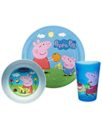 Zak! Designs Mealtime Set with Plate Peppa Pig 3 件套