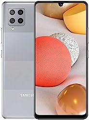 三星 Galaxy A42 5G (SM-A426B/DS) 双卡128GB 6.6英寸,工厂解锁GSM,国际版 - 无 - 灰色