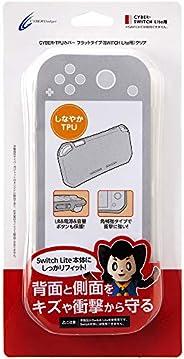 【LR/电源/音量按钮/扬声器部保护】CYBER ・ TPU保护套 平式 ( SWITCH Lite 用) 透明 - Switch