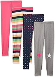 Spotted Zebra Girls' 4-Pack Legg