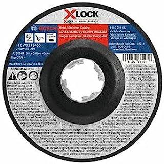 Bosch 博世 TCWX27S450 4-1/2 英寸 x .045 英寸 X-LOCK 轴 27A (ISO 42) 60 粒快速金属/不锈钢切割砂轮