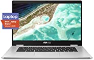ASUS Chromebook C523NA-DH02 15.6\ HD NanoEdge Display, 180 Degree, Intel Dual Core Celeron Processor, 4GB RAM,