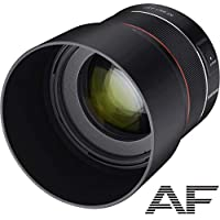 Samyang AF 85mm F1.4 EF - 固定范圍自動對焦全格式鏡頭用于佳能 EF 裝載,77 毫米過濾螺紋,鏡面反射相機