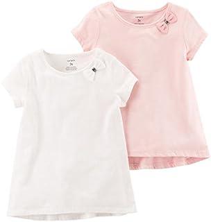 Carter's 女婴蝴蝶结 T 恤 2 件装