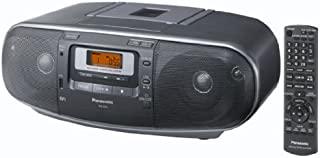 Panasonic 松下 立体声录音机 RX-D55AEG-K (调谐器,CD播放器,MP3播放器,盒式录音带),灰色