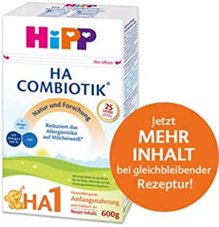 HiPP 喜宝 HA Combiotik 婴儿奶粉 1段(适用于初生婴儿),4盒装(4 x 600g)