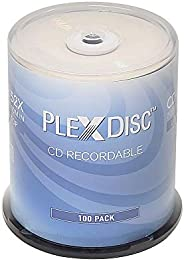 PlexDisc CD-R 700MB 80 分钟 52x 可录音光盘 - 100 个主轴 (FFP) 631-805-BX