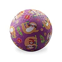 Crocodile Creek - Sloth - 橡胶游乐场球,5 英寸,适合 3 岁及以上儿童