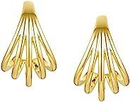 EF ENFASHION 几何线爪耳钉,海螺耳钉,适合女士/少女。金色