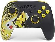 PowerA 增强无线控制器 适用于Nintendo Switch - 皮卡丘 025,Nintendo Switch Lite,Gamepad, 游戏控制器,蓝牙控制器,可充电,皮卡丘 - Nintendo Switc