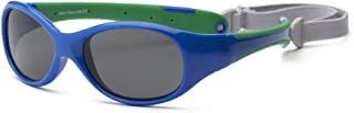 RKS 美国 防紫外线男童女童宝宝儿童太阳镜 附可拆卸镜带建议4岁以上(探险者)宝蓝色+绿色