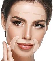 Blumbody 面部皱纹贴片 - 面部抗皱平滑护理,用于平滑眼部、嘴唇或皱纹 - 165 张可重复使用的面部贴片