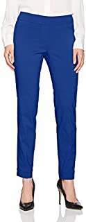 SLIM-SATION Women's Wide Band Pull on Straight Leg Ankle Pant