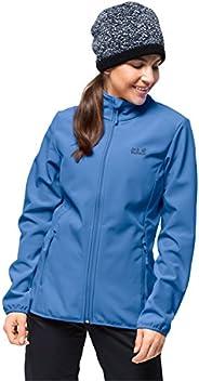 Jack Wolfskin 女士功能北極傳遞防水防風戶外徒步夾克軟殼夾克,女士