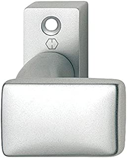 HOPPE 方形玫瑰花饰上的门把手 扁平形状 镀铝 固定按钮 1件