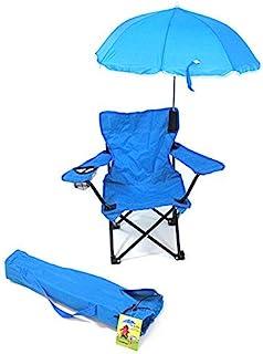 WC Redmon Beach Baby 儿童露营椅,带雨伞 沙滩和野营椅 蓝色