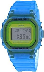 Casio 卡西歐 G-Shock DW5600LS-2 骨架系列藍*金屬表盤數字手表
