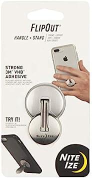 Nite Ize FlipOut - 智能手机折叠手柄和支架,不锈钢