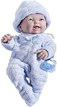 """Mini La Newborn Boutique - Realistic 9.5"""" Anatomically Correct Real Boy Baby Doll dressed in BLUE ?? All"""