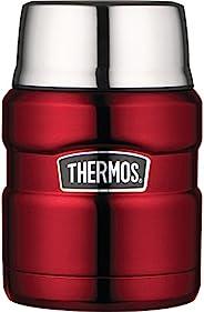 Thermos 膳魔师 King 不锈钢食物罐(带折叠勺),蔓越莓,16盎司(约473.12 毫升)