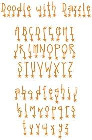 Sizzix Sizzlits 字母套装 9 个骰子 - 涂鸦 Emily Humble 出品