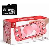 Nintendo 任天堂 Switch Lite 游戏机,灰色,5.5 英寸触摸屏,内置加控制板,W/128GB Mic…