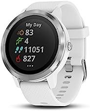 Garmin 010-01769-21 Vivoactive 3 GPS 智能手表,具有非接觸式支付功能和內置體育應用程序,白色/銀色