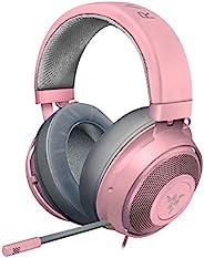 Razer 雷蛇 Kraken 游戏耳机 2019 - [石英粉]: 轻质铝制框架 - 可伸缩降噪麦克风 - 适用于PC,Xbox,PS4,Nintendo Switch
