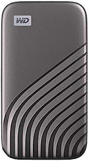 Western Digital 西部数据 2TB My Passport SSD外置便携式硬盘,灰色,高达1050 MB/s - WDBAGF0020BGY-WESN