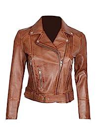 棕色羊毛皮夹克 女式 - 真正小羊皮巧克力棕色皮夹克女式