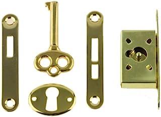Full Mortise 复古镀金首饰盒和小门锁,钥匙和钥匙孔复古家具   K40-B361-1