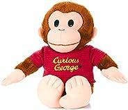 KIDS PREFERRED 好奇的乔治猴子毛绒玩具 - 经典的 George 8 英寸填充动物