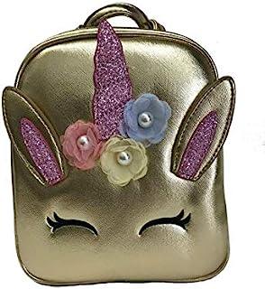 Doe a Dear 铝箔独角兽背包|假扮游戏钱包|免费发夹|多色|均码|适用于儿童、幼儿、少女、Bolsa para Ninas
